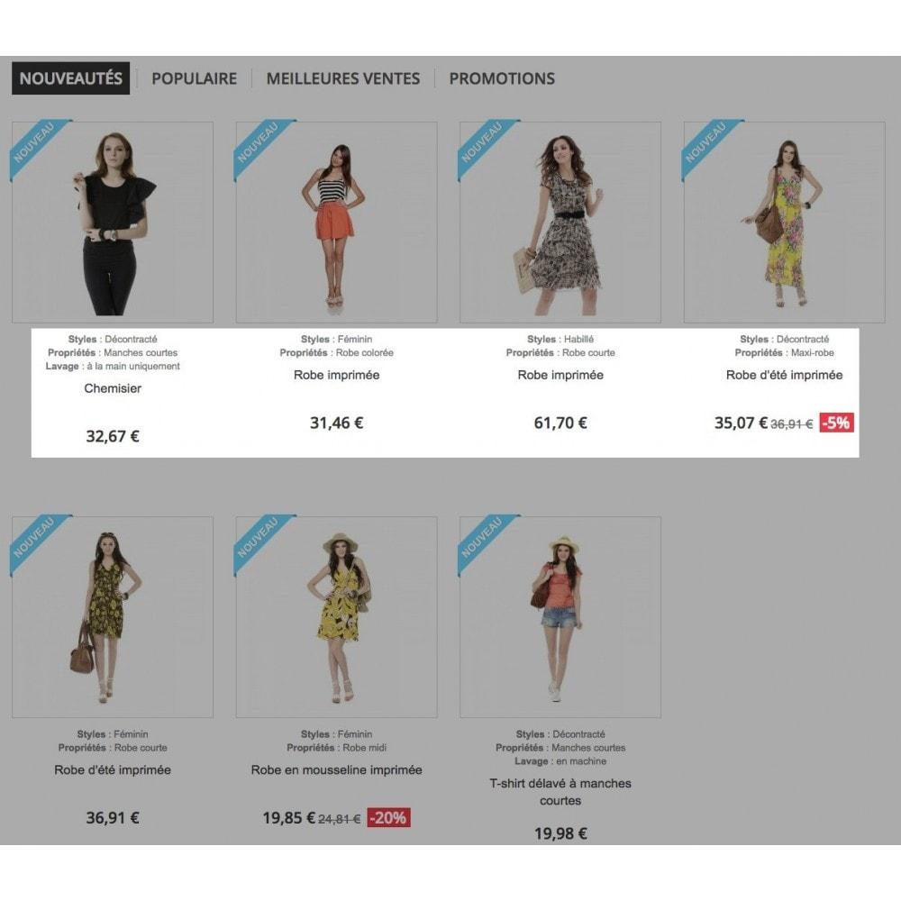 module - Informaciones adicionales y Pestañas - Product feature highlighting - 1
