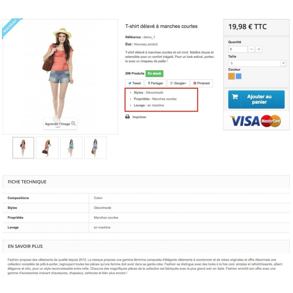 module - Additional Information & Product Tab - Product feature highlighting - 4