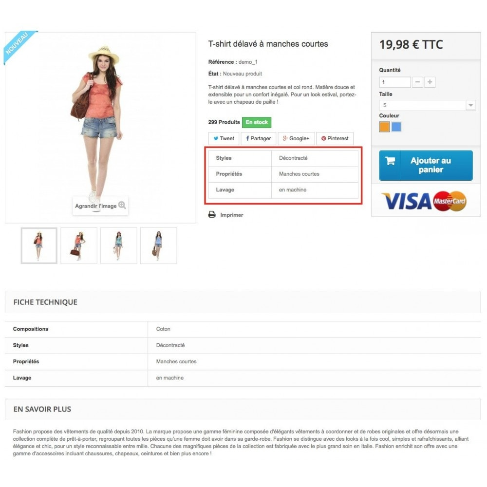 module - Additional Information & Product Tab - Product feature highlighting - 5