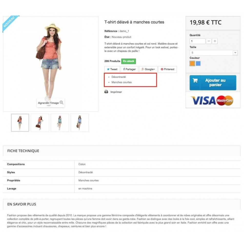 module - Additional Information & Product Tab - Product feature highlighting - 6
