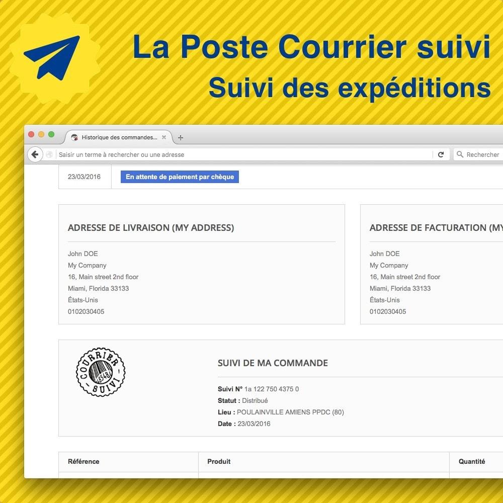 module - Seguimiento de la entrega - Suivi des expéditions La Poste, Colissimo, Chronopost - 1