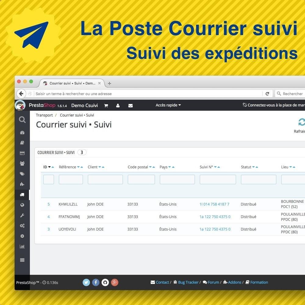 module - Seguimiento de la entrega - Suivi des expéditions La Poste, Colissimo, Chronopost - 3