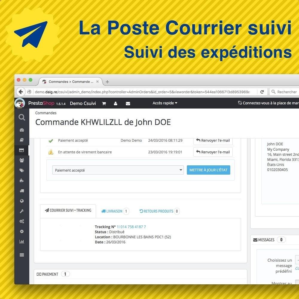 module - Seguimiento de la entrega - Suivi des expéditions La Poste, Colissimo, Chronopost - 2