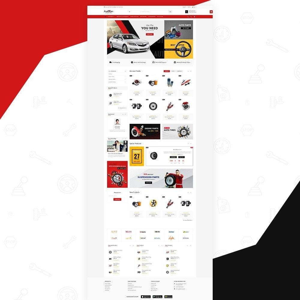 theme - Automotive & Cars - AutoBurn – AutoPart and Tool Super Store v3 - 2