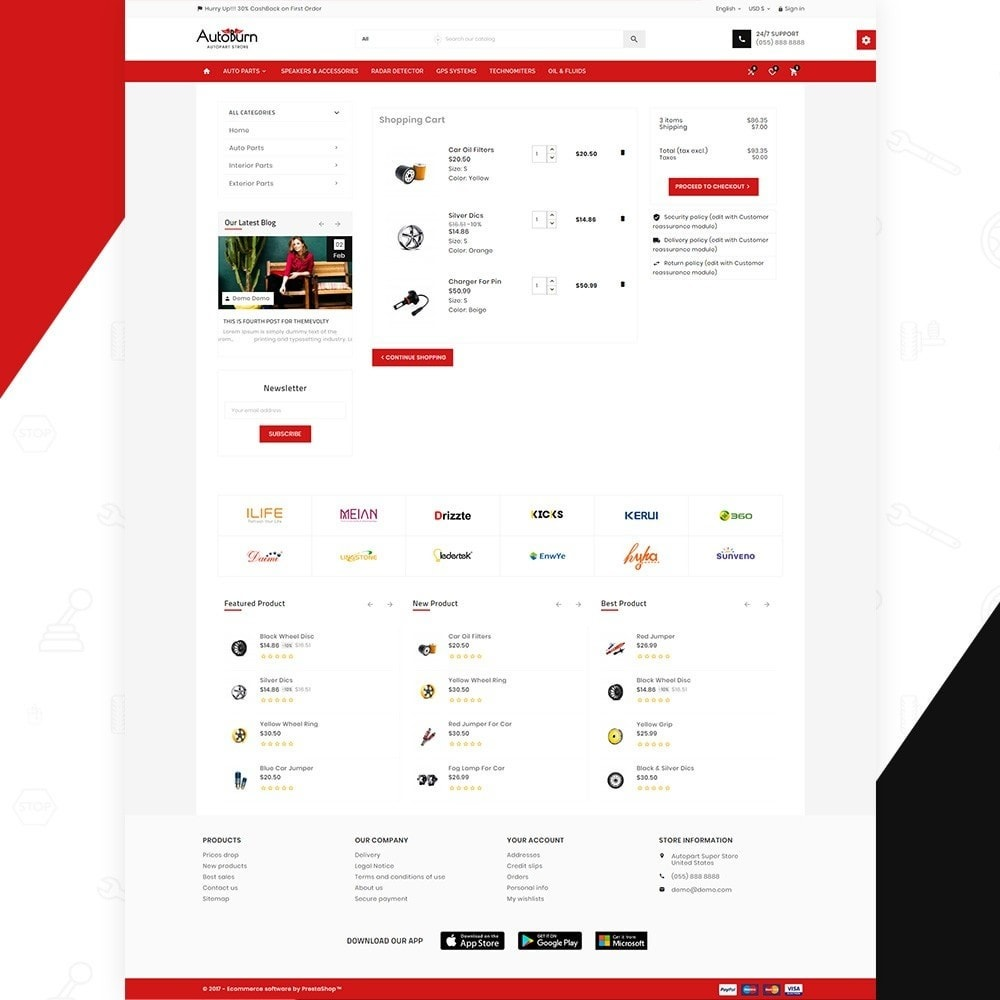 theme - Automotive & Cars - AutoBurn – AutoPart and Tool Super Store v3 - 5