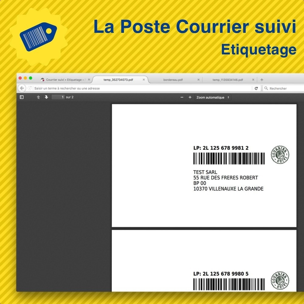 module - Preparación y Envíos - La Poste Courrier suivi • Etiquetage - 1