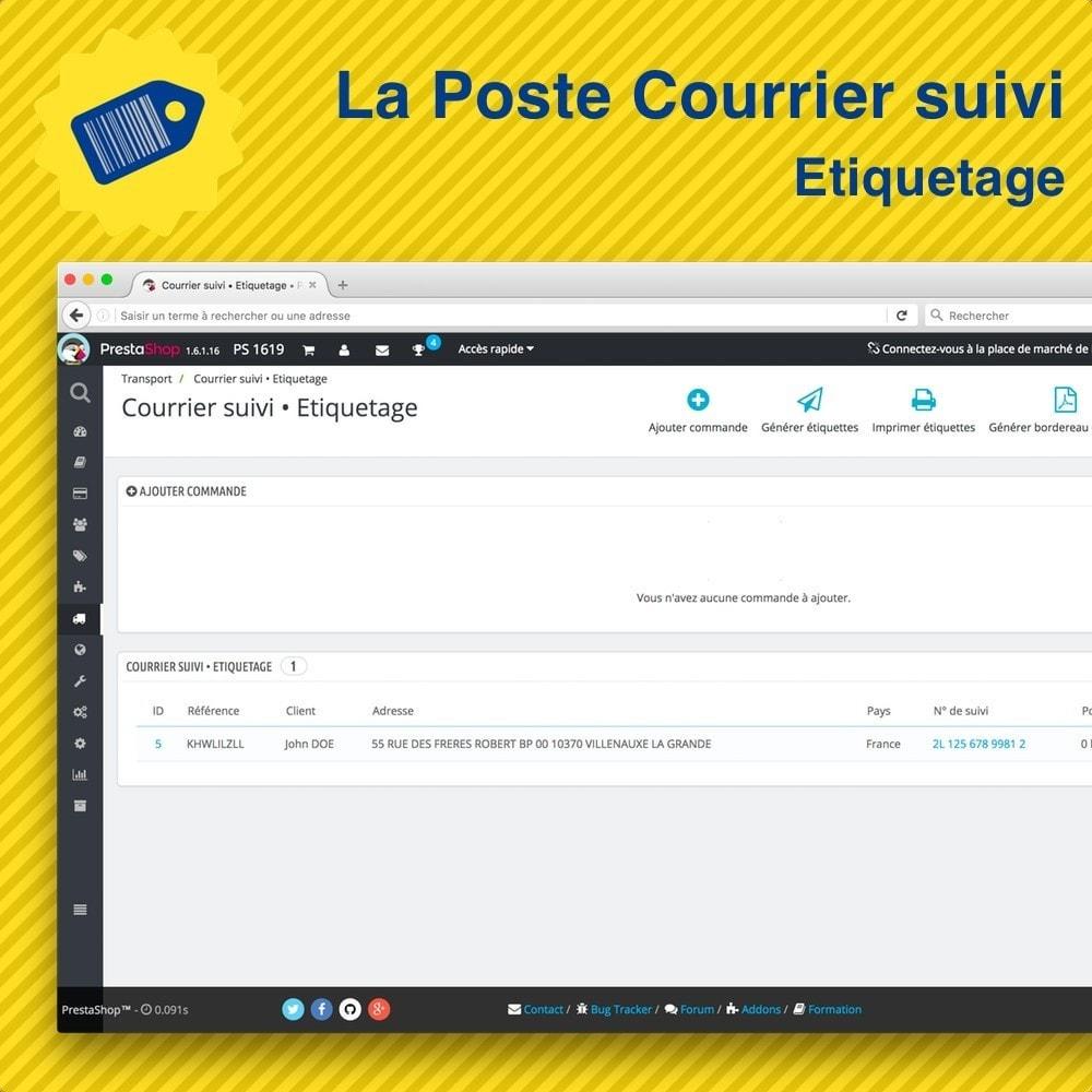 module - Preparación y Envíos - La Poste Courrier suivi • Etiquetage - 3