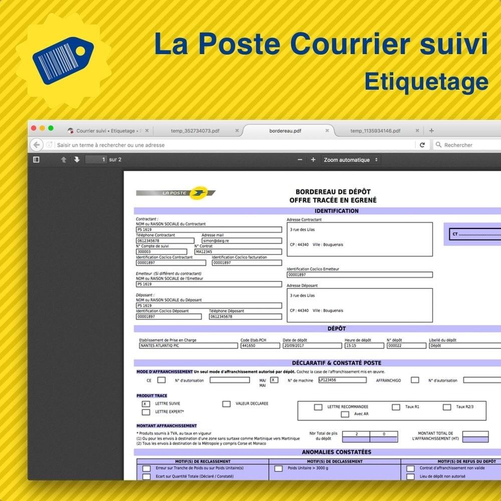module - Preparación y Envíos - La Poste Courrier suivi • Etiquetage - 4