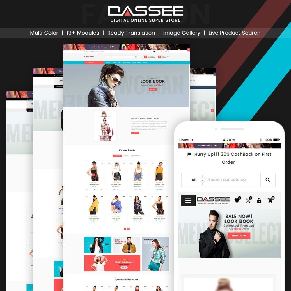 theme - Mode & Chaussures - Dassee – Fashion Super Store v2 - 1