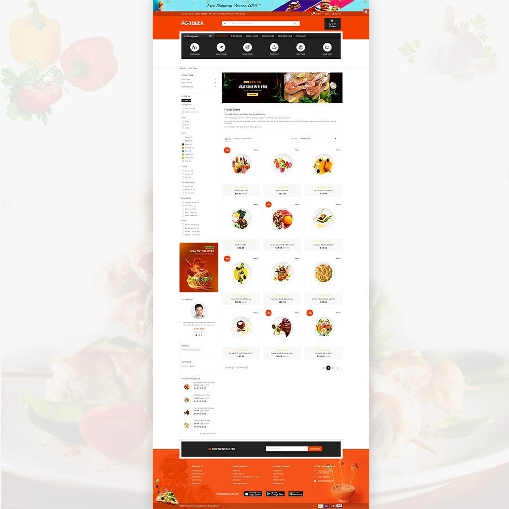 theme - Alimentation & Restauration - Foodza – Fast Food Super Store - 3