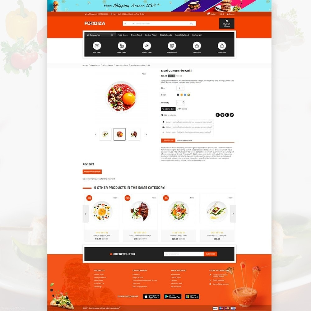 theme - Alimentation & Restauration - Foodza – Fast Food Super Store - 4
