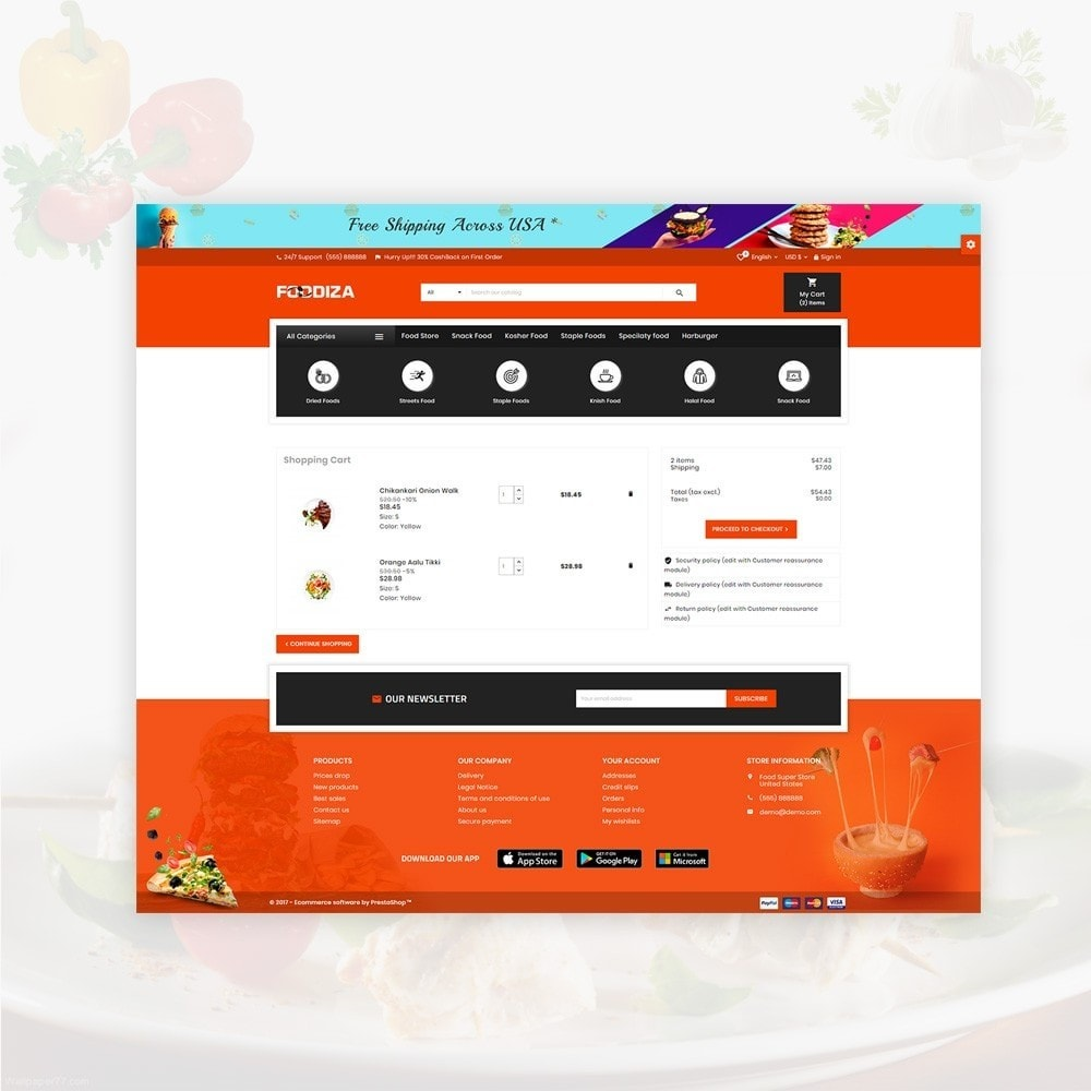 theme - Alimentation & Restauration - Foodza – Fast Food Super Store - 5