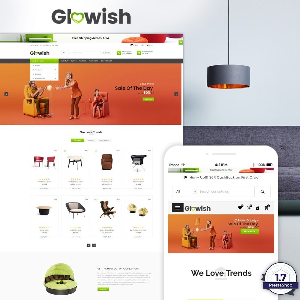 theme - Maison & Jardin - Glowish – Furniture Super Store v2 - 1