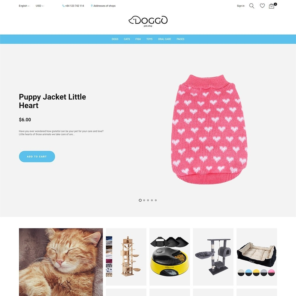 theme - Animals & Pets - Doggo - Pet Shop - 1