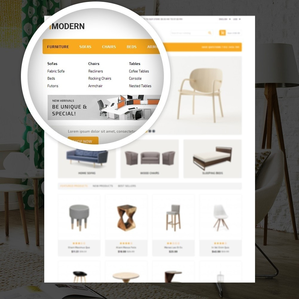 theme - Heim & Garten - Modern  -  Furniture store - 7