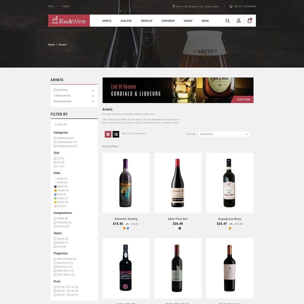 theme - Food & Restaurant - Recwine - Wine Store - 3