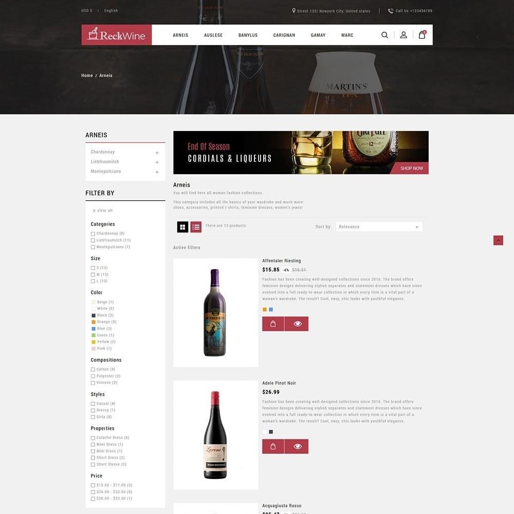 theme - Food & Restaurant - Recwine - Wine Store - 4