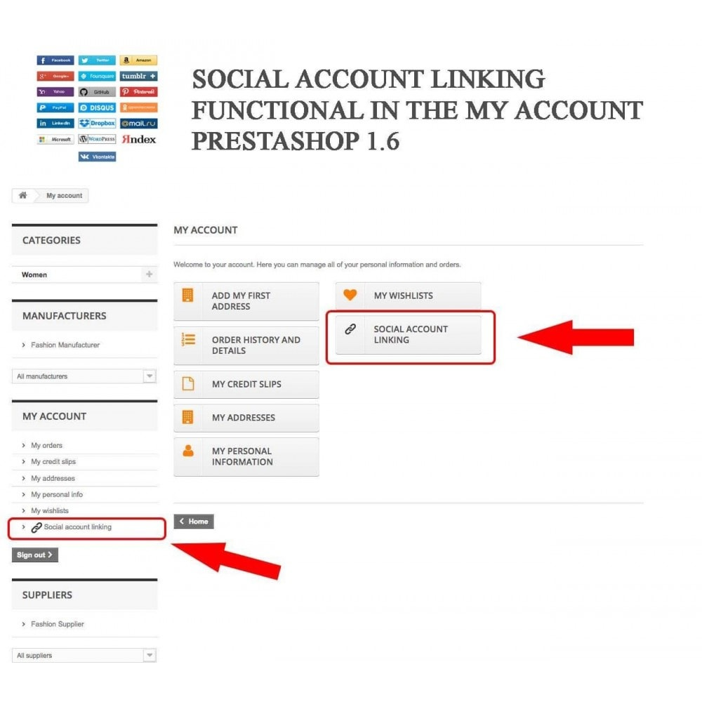 module - Przyciski do logowania  & Connect - Social Logins + Statistics (19 in 1) - 11