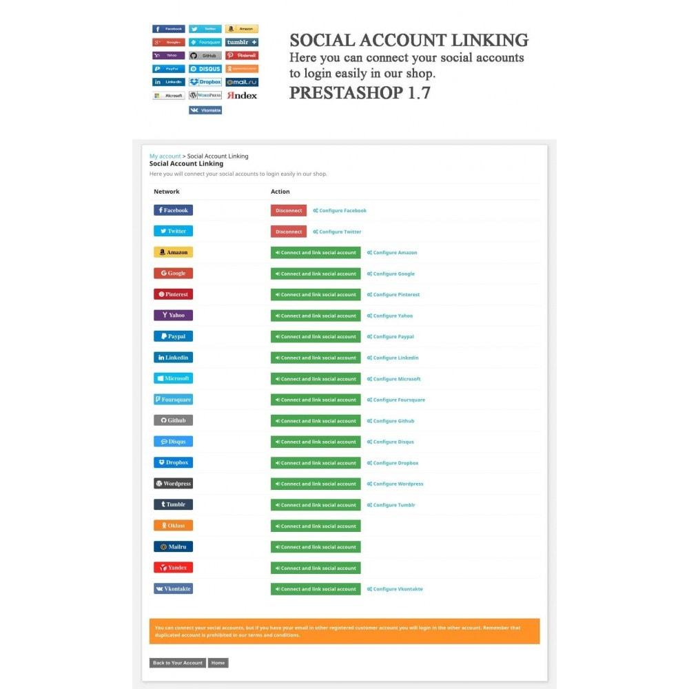module - Botones de inicio de Sesión/Conexión - Social Logins + Statistics (19 in 1) - 12