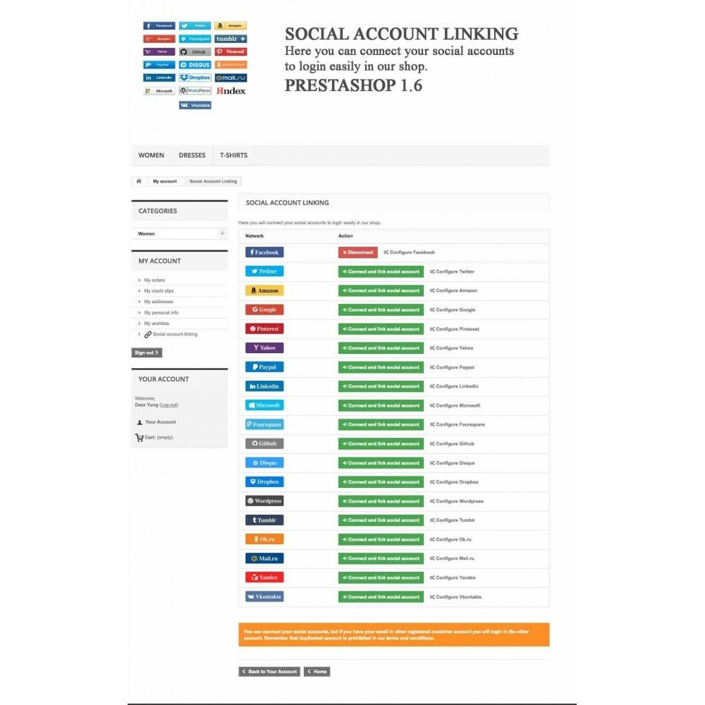 module - Przyciski do logowania  & Connect - Social Logins + Statistics (19 in 1) - 13
