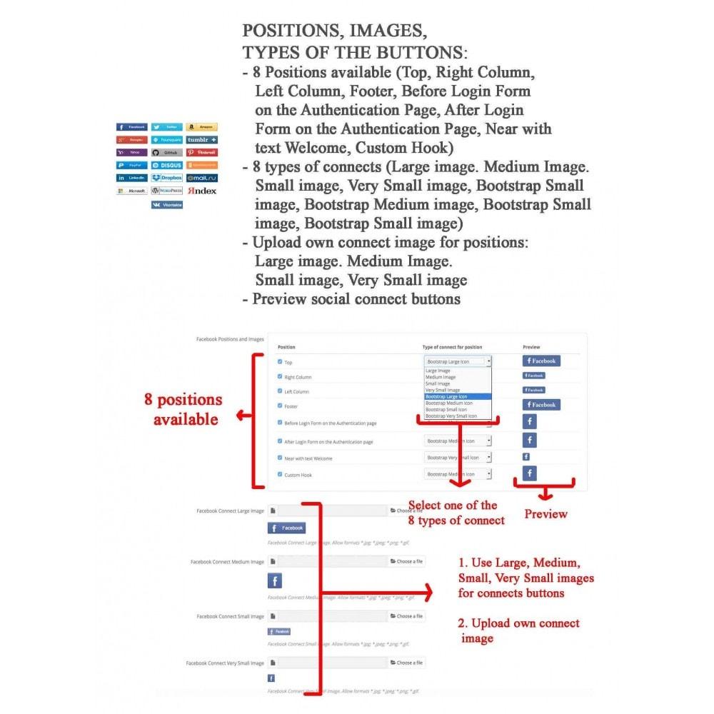 module - Przyciski do logowania  & Connect - Social Logins + Statistics (19 in 1) - 15