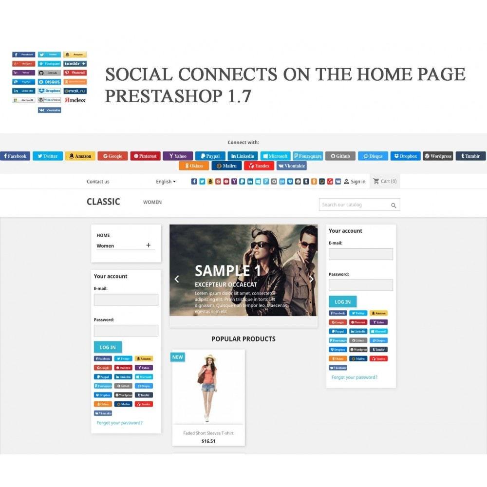 module - Przyciski do logowania  & Connect - Social Logins + Statistics (19 in 1) - 16