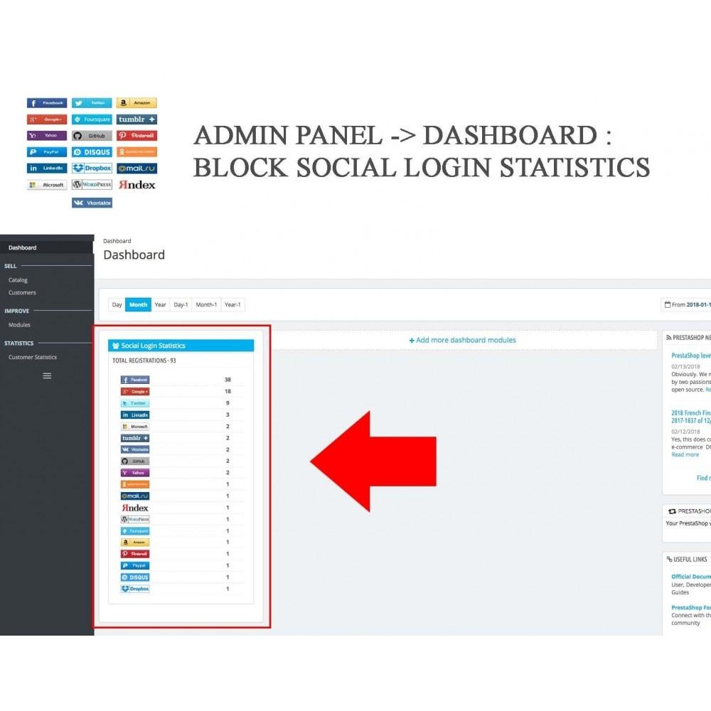 module - Botones de inicio de Sesión/Conexión - Social Logins + Statistics (19 in 1) - 20