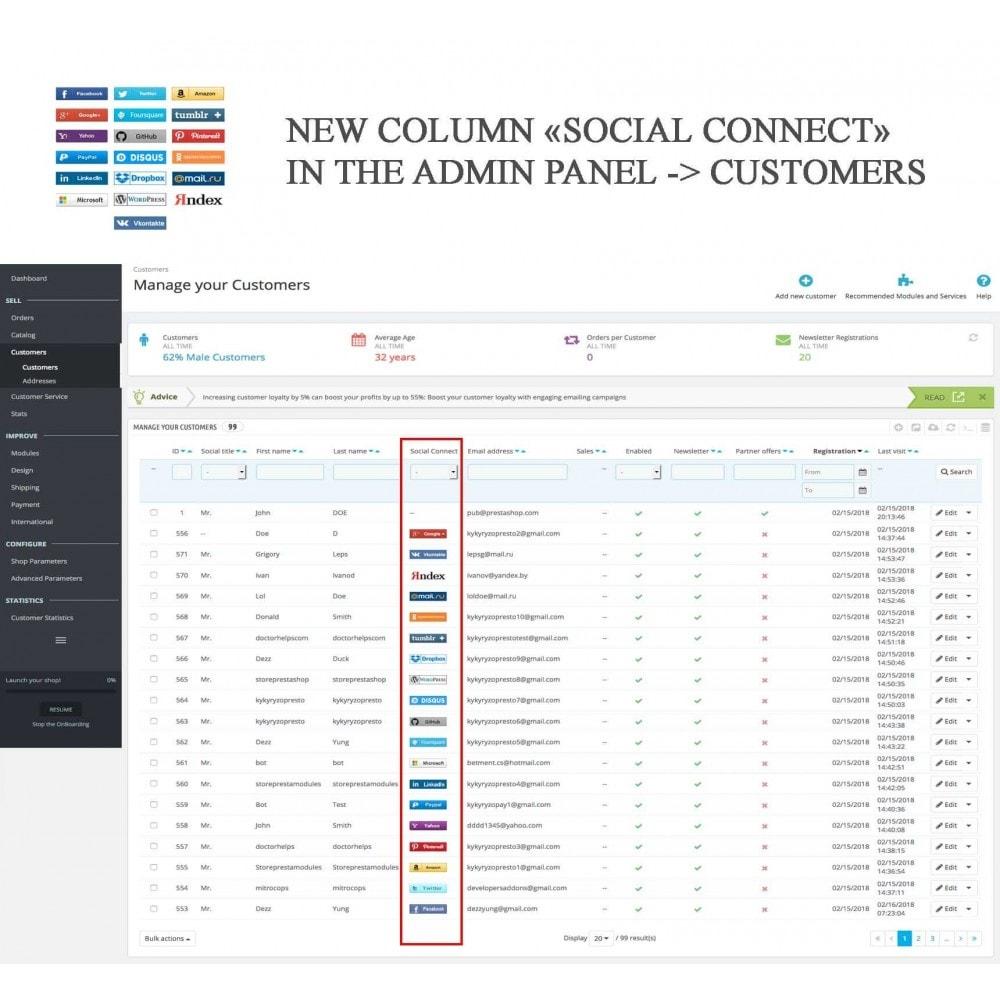 module - Botones de inicio de Sesión/Conexión - Social Logins + Statistics (19 in 1) - 24