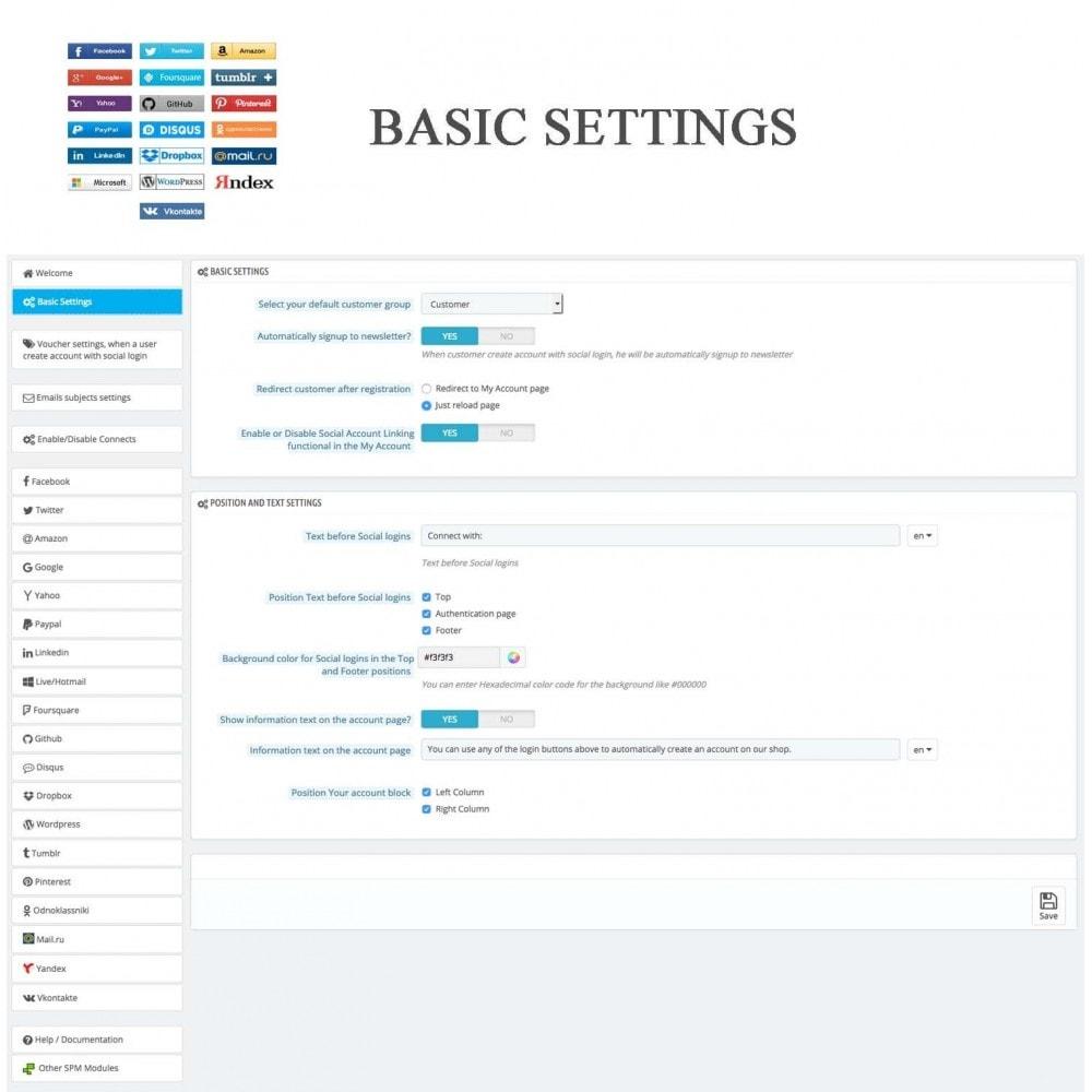 module - Przyciski do logowania  & Connect - Social Logins + Statistics (19 in 1) - 24