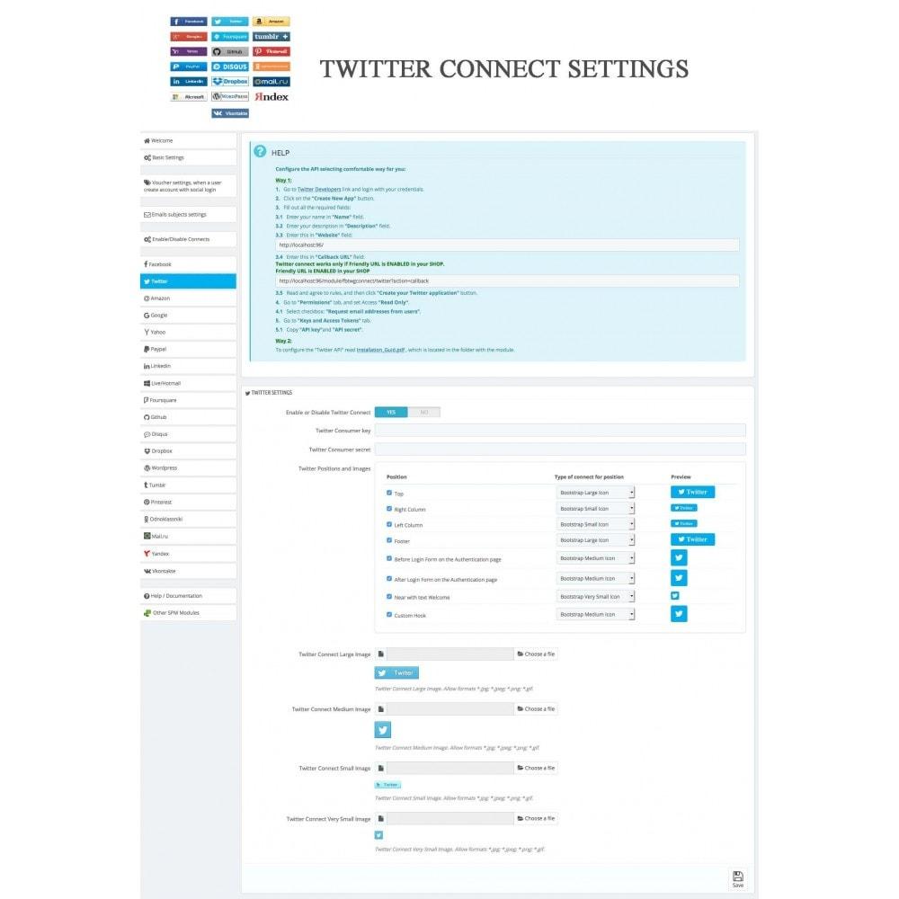module - Przyciski do logowania  & Connect - Social Logins + Statistics (19 in 1) - 28