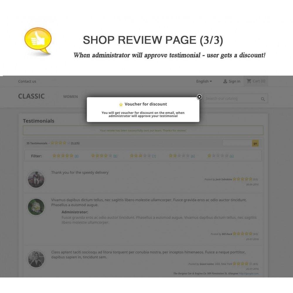 module - Kundenbewertungen - Shop Reviews + Avatars + Reminder + Rich Snippets - 3