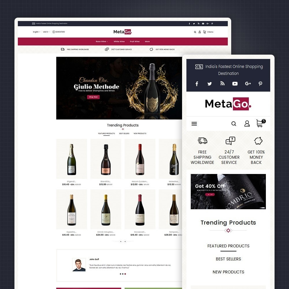 theme - Drink & Wine - Melano Wine Club - 1