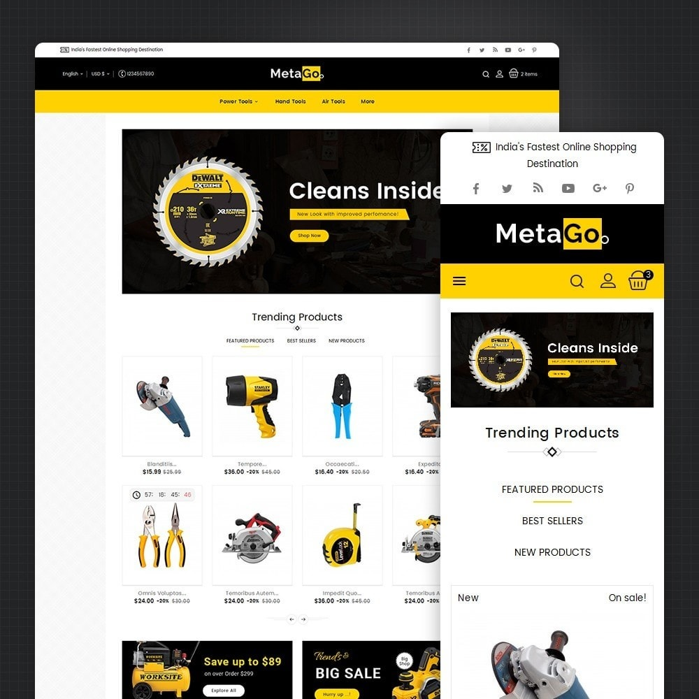 theme - Casa & Jardins - Melano Power Tools - 1