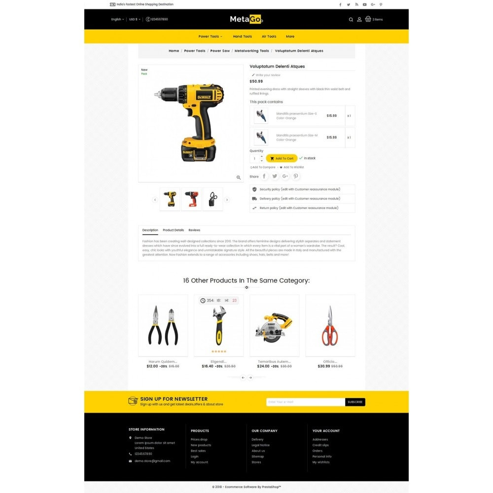 theme - Casa & Jardins - Melano Power Tools - 5