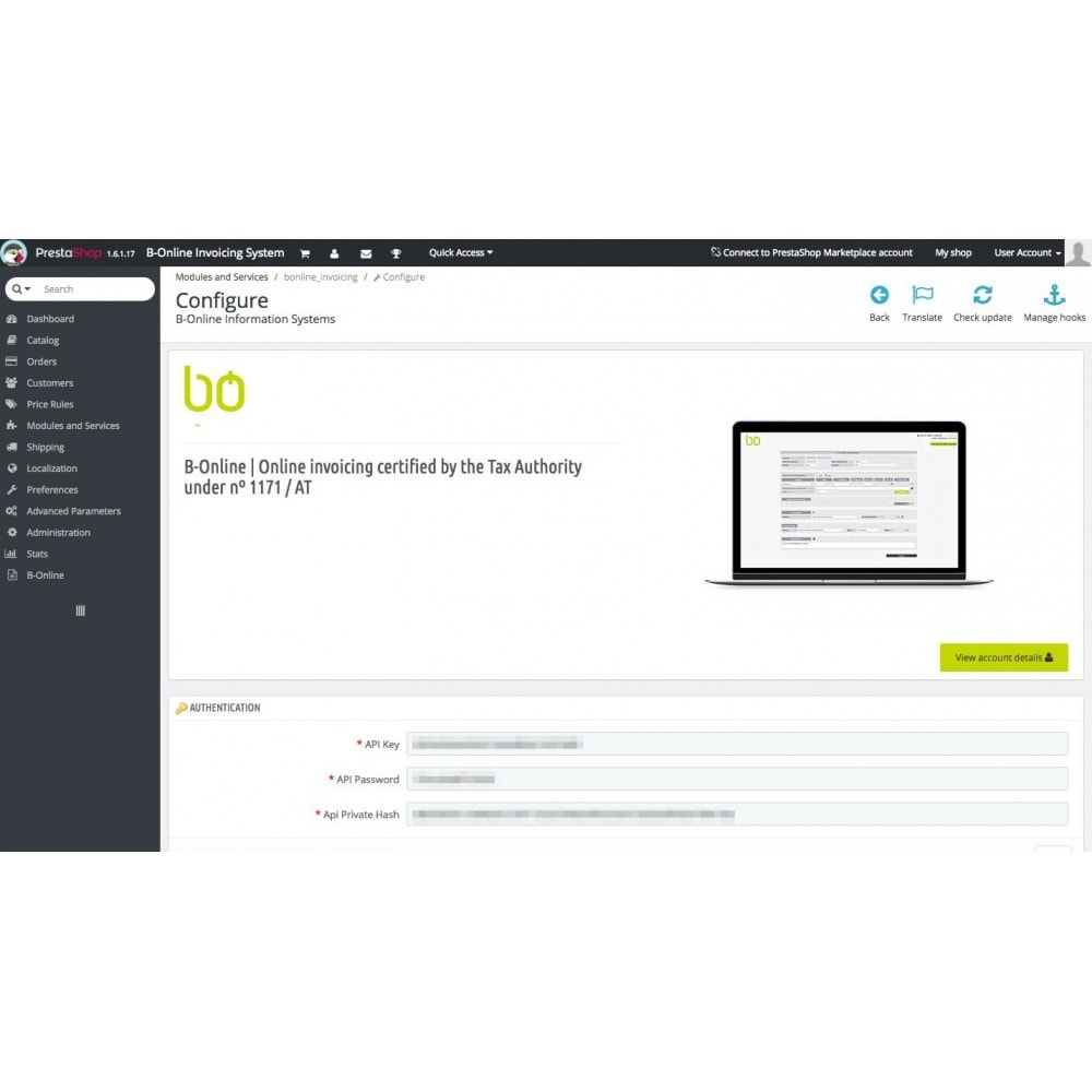 module - Contabilidad y Facturas - B-Online Invoicing - 1
