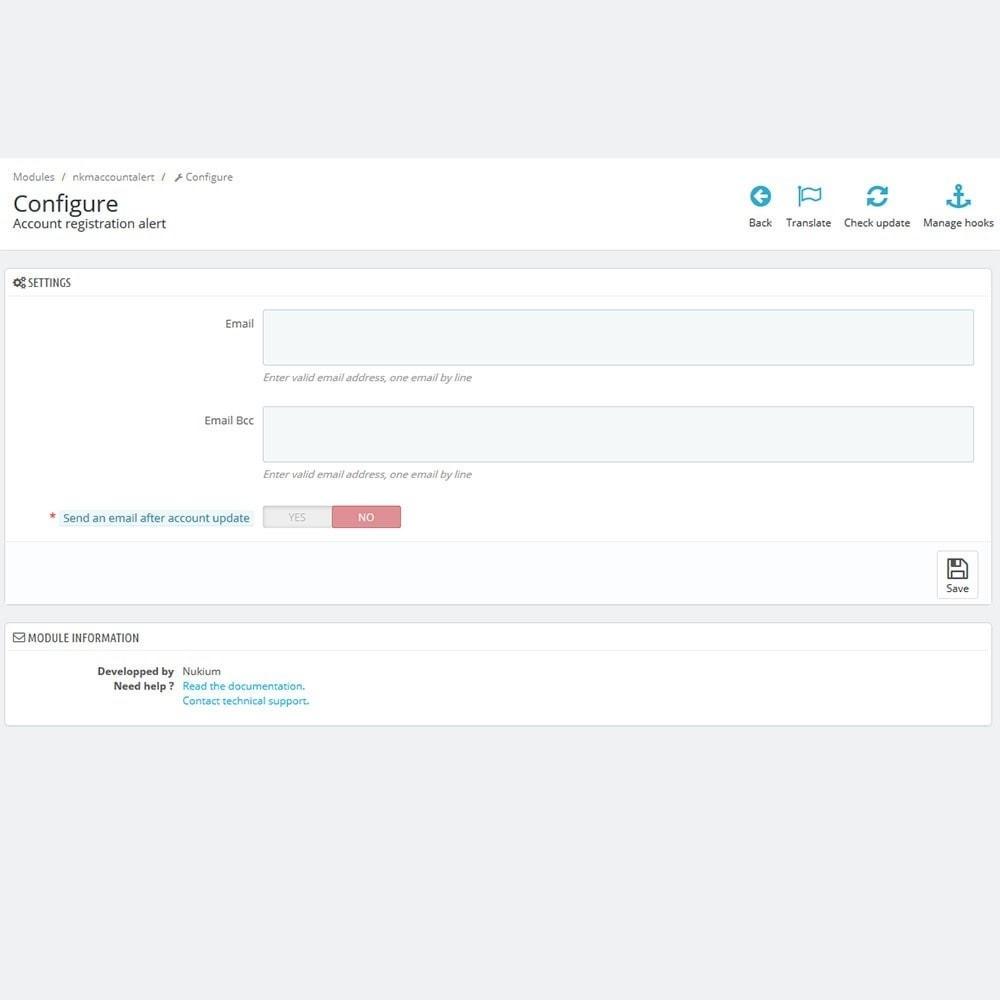 module - E-mails & Notifications - Notification e-mail avancée à l'inscription d'un client - 2