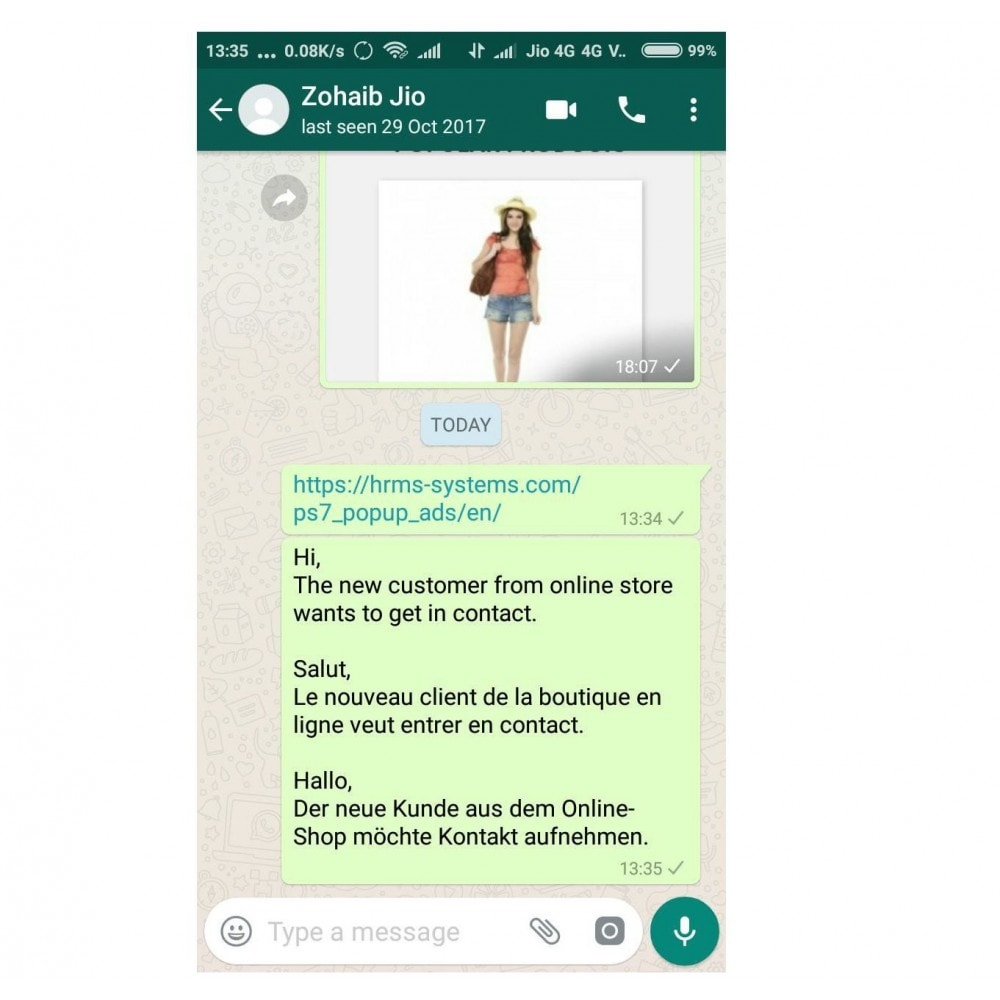 module - Ondersteuning & Online chat - WhatsApp Chat Support - 1