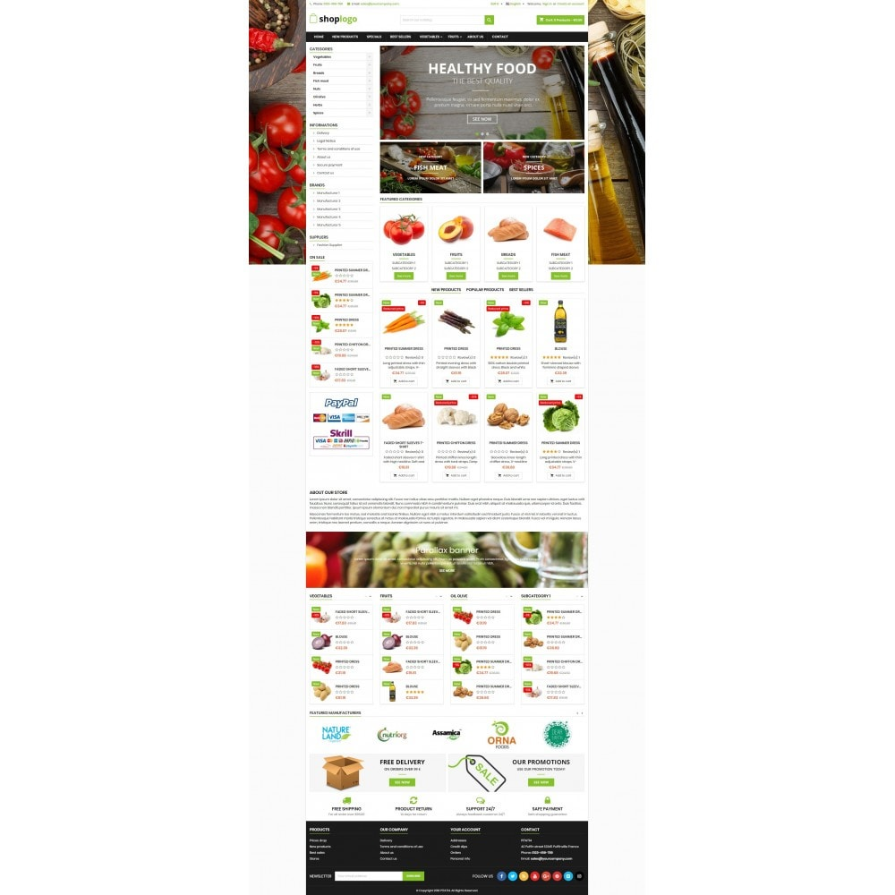 theme - Alimentation & Restauration - P17AT14 Food store - 2