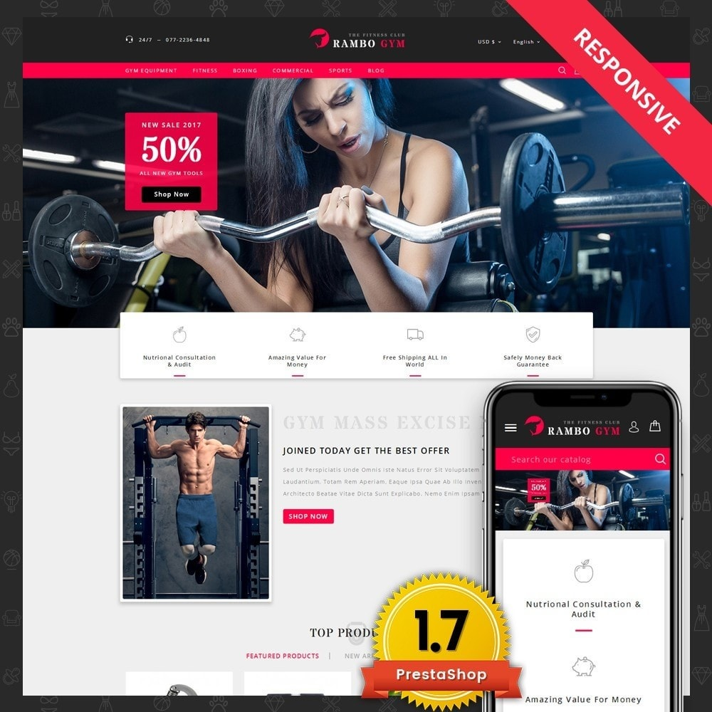 theme - Salud y Belleza - Rambo Fitness Store - 1
