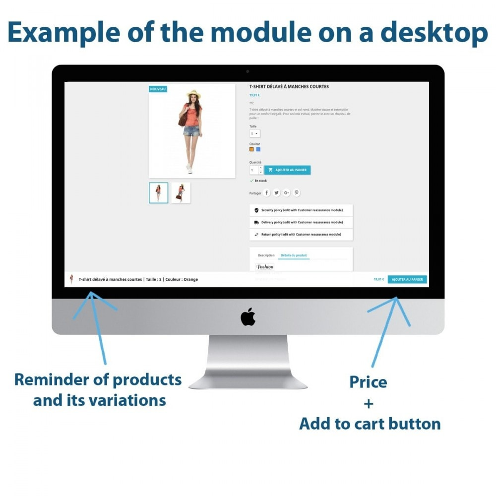 module - Registratie en Proces van bestellingen - Sticky Add to Cart on Product Pages - 1