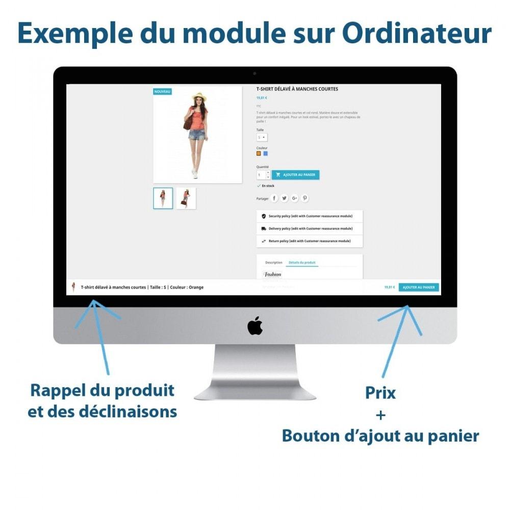 module - Inscription & Processus de commande - Sticky Panier sur les Fiches Produits - 1