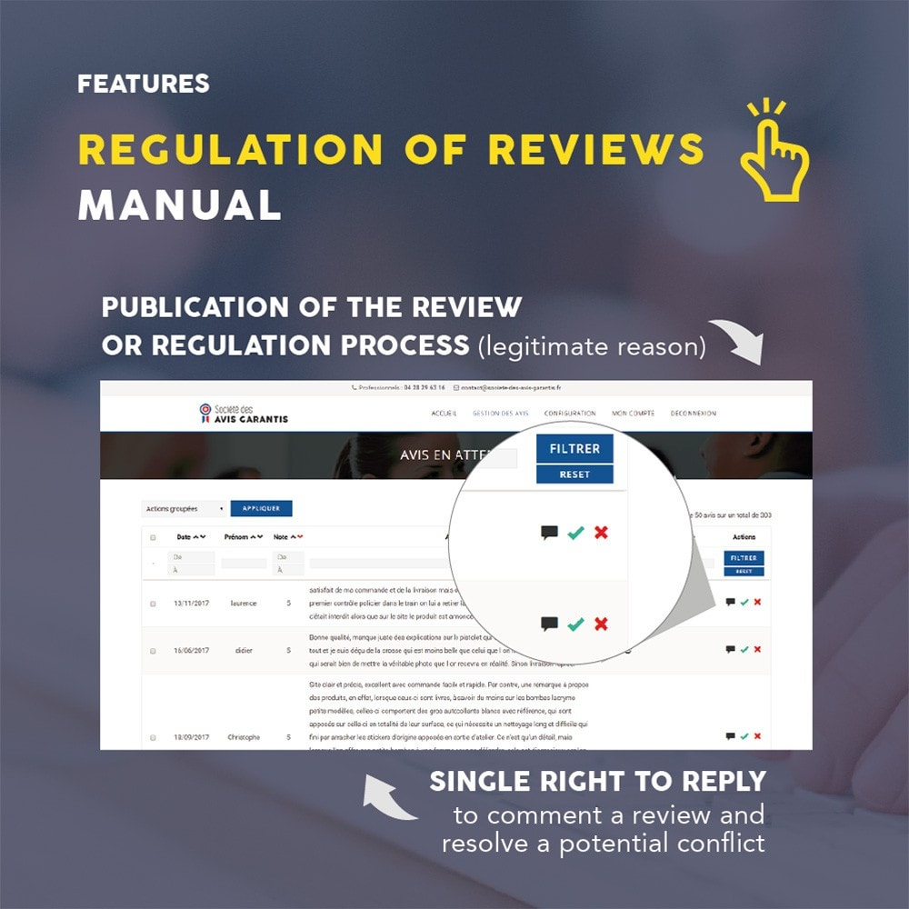 module - Recensioni clienti - Guaranteed Reviews Company, shop and product ratings - 13