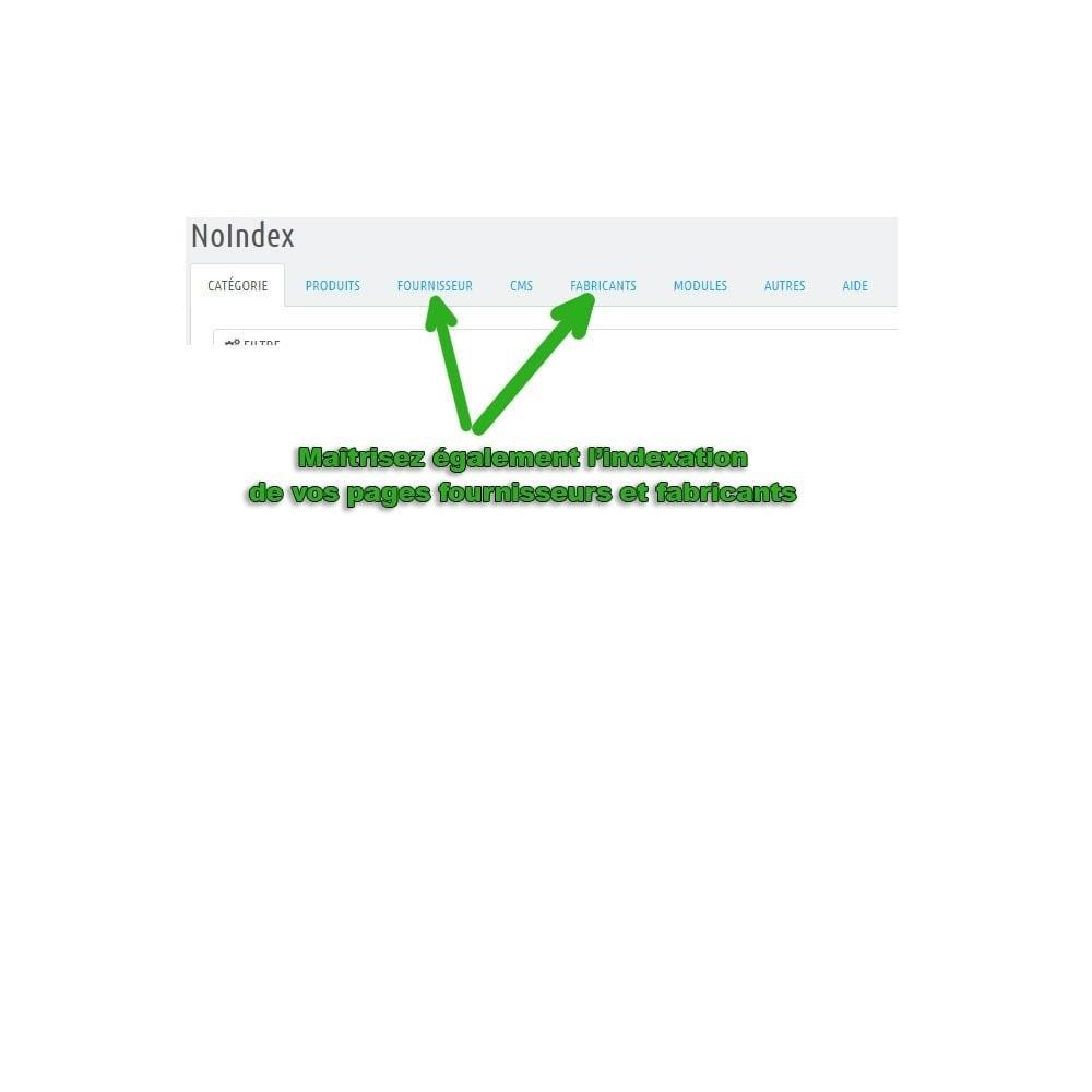 module - SEO (référencement naturel) - Booster votre référencement grâce au module no-index - 1