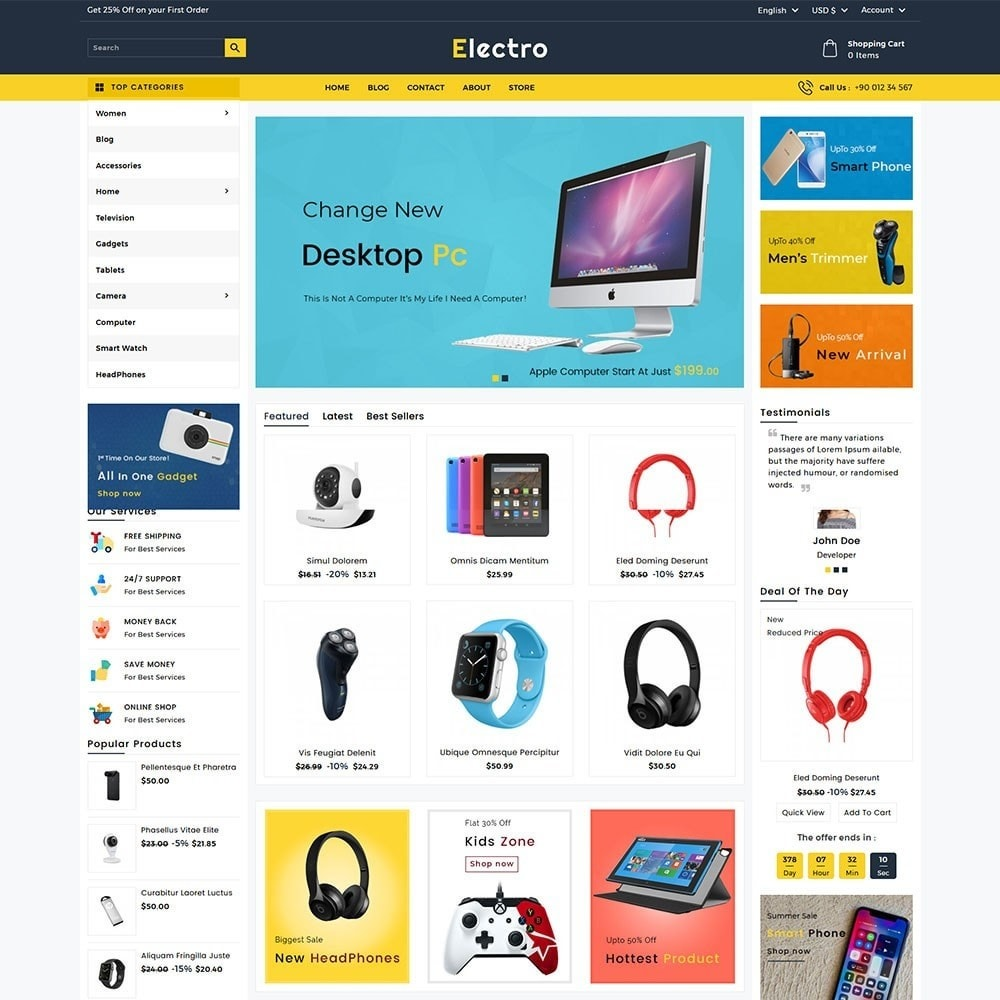 theme - Электроника и компьютеры - Electro Electronics Store - 2