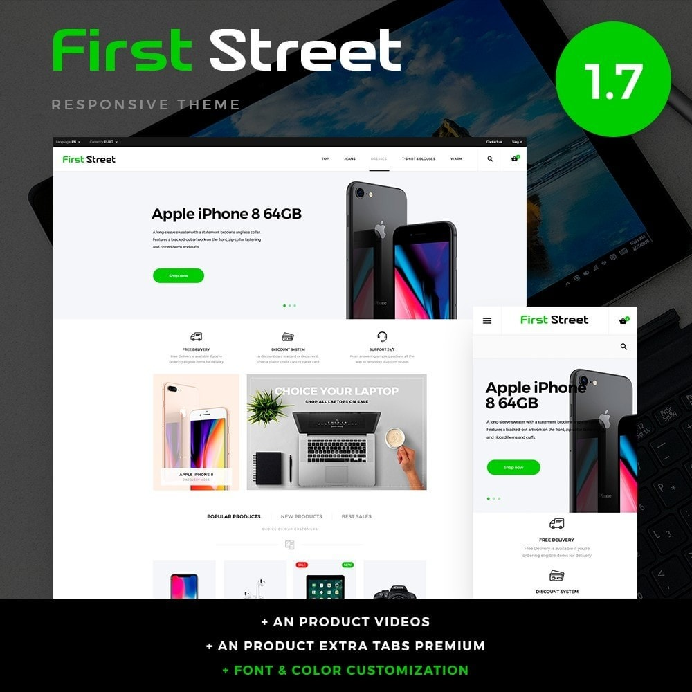 theme - Электроника и компьютеры - First Street - High-tech Shop - 1