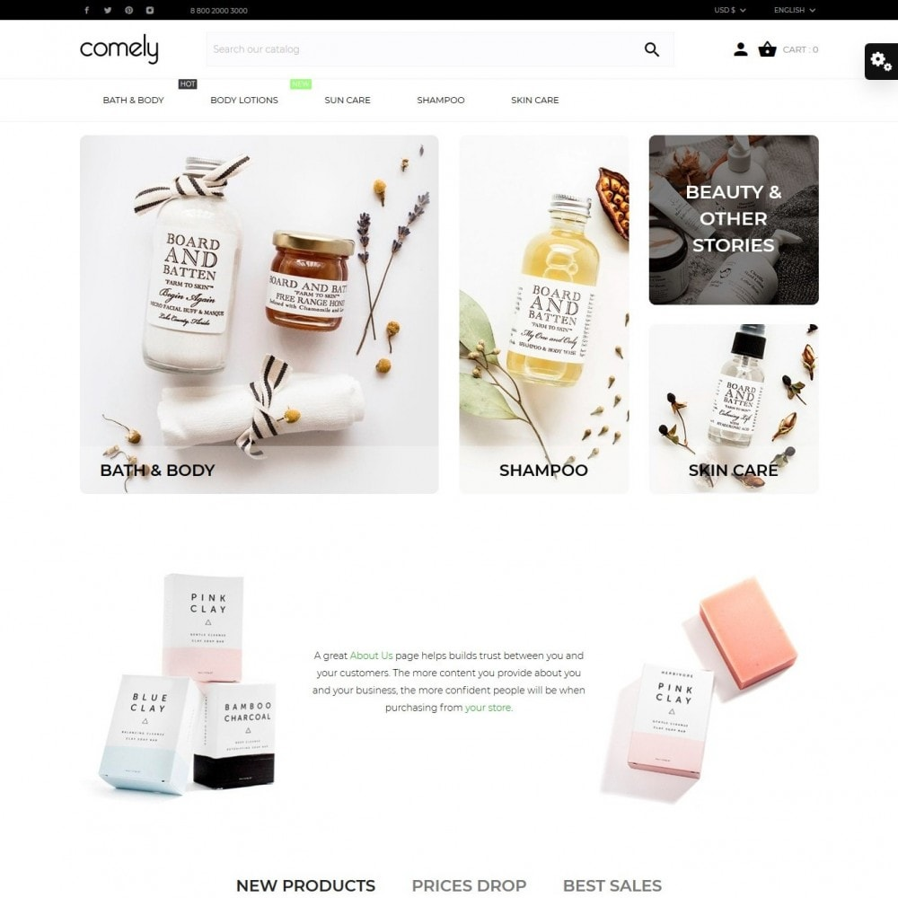 theme - Health & Beauty - Comely - 2