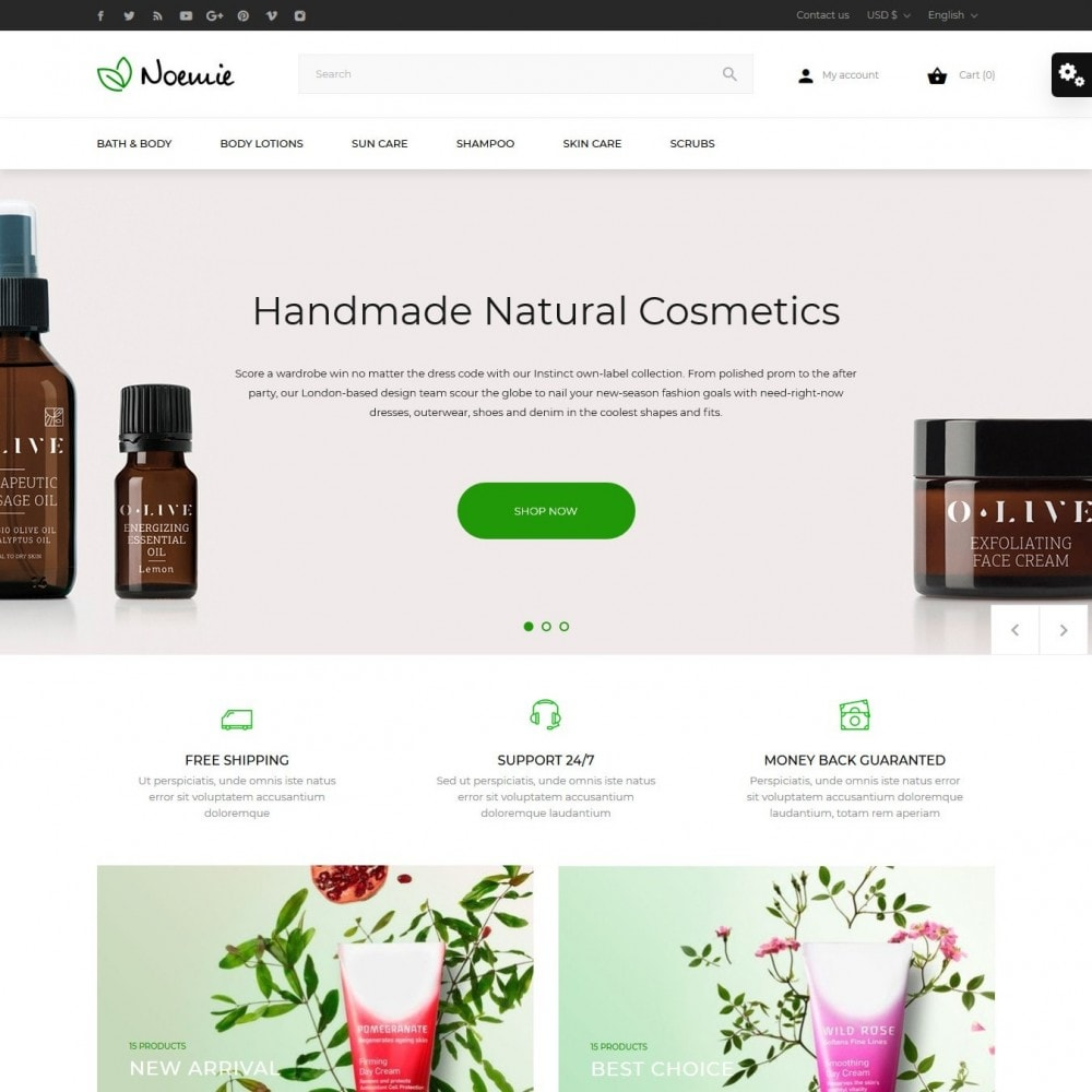 theme - Health & Beauty - Noemie Cosmetics - 2