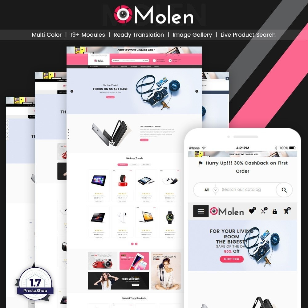 theme - Eletrônicos & High Tech - Molen – Electronic Super Store v2 - 1