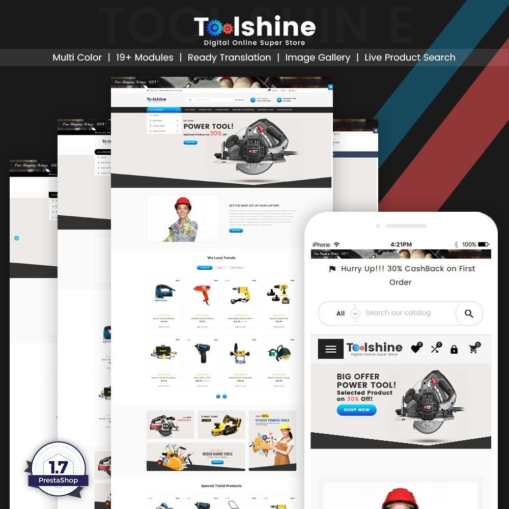 theme - Samochody - ToolShine – Tool Super Store v2 - 1