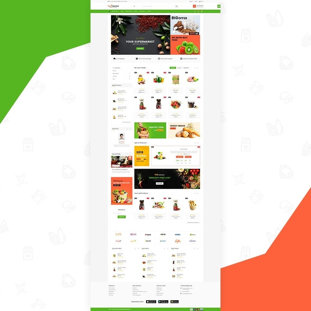 theme - Продовольствие и рестораны - Fresh Market – Food Super Store v3 - 2